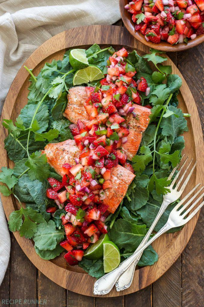 """<p>Spice up your grilling game.</p><p>Get the recipe from <a href=""""http://reciperunner.com/grilled-salmon-strawberry-jalapeno-salsa/"""" rel=""""nofollow noopener"""" target=""""_blank"""" data-ylk=""""slk:Recipe Runner"""" class=""""link rapid-noclick-resp"""">Recipe Runner</a>.</p>"""