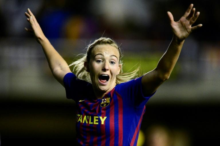 Toni Duggan is hoping to help Barcelona to their first Champions League final