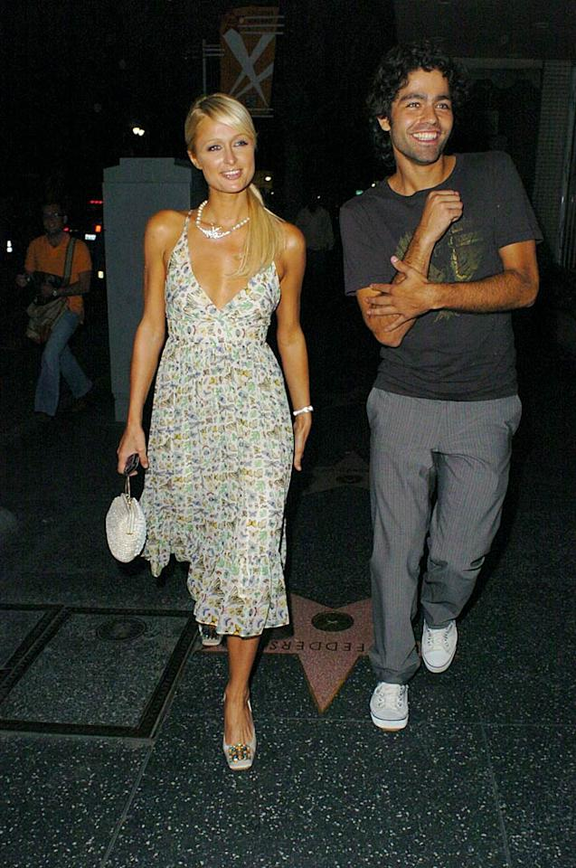 "Despite hitting the town together again, Paris Hilton and Adrian Grenier say they're just friends. The ""Entourage"" star's latest project is a documentary on fame and the paparazzi. Who better to give him an insider perspective than Paris? <a href=""http://www.splashnewsonline.com/"" target=""new"">Splash News</a> - August 15, 2007"