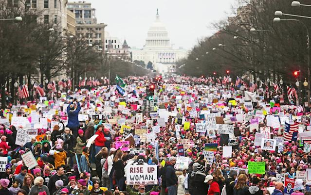 Participants at the Women's March on Washington on Jan. 21, 2017. (Photo: Getty Images)