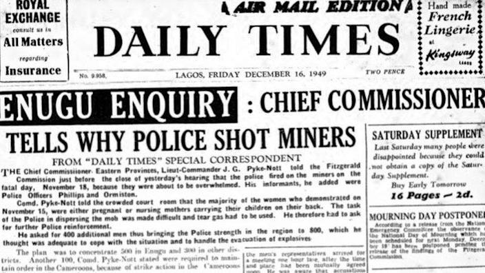 Newspaper headline of Iva Valley massacre