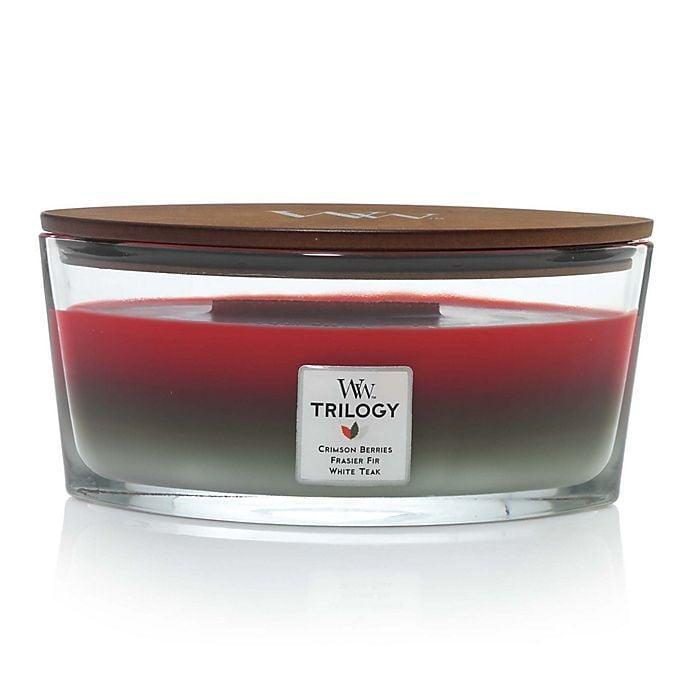 <p> With wonderful scents like <span>WoodWick® Trilogy Winter Garland Large Oval Jar Candle</span> ($30), fireside, and frasier fir, these candles are a perfect find for the holidays, either for yourself or as a gift. It's like a mini fireplace in every room! The WoodWick candles are perfect for those self-care spa moments, for easing the tension of working from home, for getting you and your loved ones in the holiday spirit, and for much more. </p>