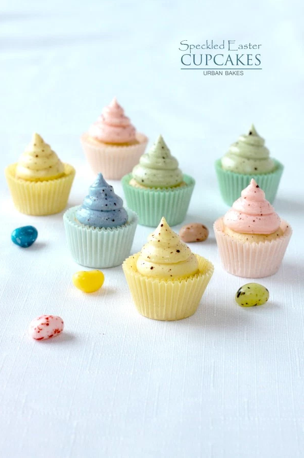 """<p>You're going to be a speckling master by the time you're done decorating these.</p><p><em><a href=""""http://urbanbakes.com/speckled-easter-cupcakes-giveaway/"""" rel=""""nofollow noopener"""" target=""""_blank"""" data-ylk=""""slk:Get the recipe from Urban Bakes »"""" class=""""link rapid-noclick-resp"""">Get the recipe from Urban Bakes »</a></em><br></p>"""