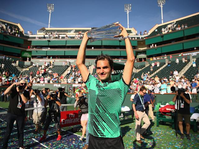 Roger Federer has now claimed five Indian Wells titles: Getty