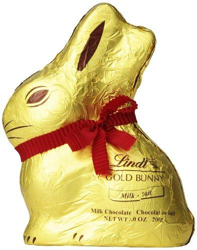 """<p><strong>Lindt</strong></p><p>amazon.com</p><p><strong>$6.96</strong></p><p><a rel=""""nofollow"""" href=""""http://www.amazon.com/dp/B00B96KPXQ/"""">Shop Now</a></p><p>No Easter basket is complete without a pair of these golden ears peering out from the top.  The hollow inside lets you break off pieces as you nibble through the cute shape. </p>"""