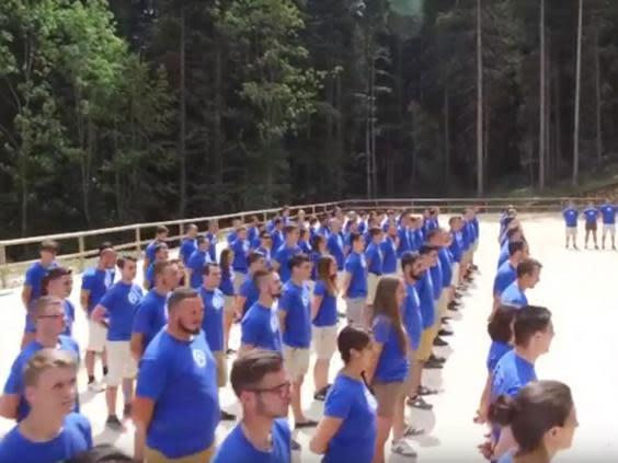 A Generation Identity training camp in summer 2016 (YouTube)