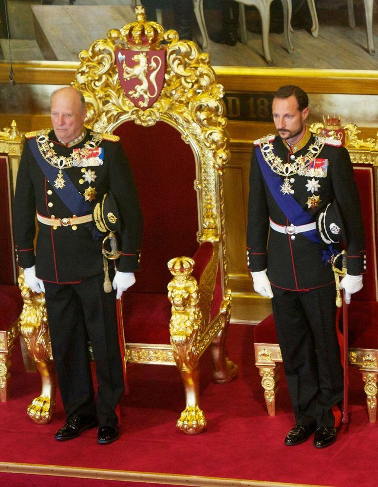 King Harald V of Norway and Prince Haakon of Norway | Ragnar Singsaas/WireImage