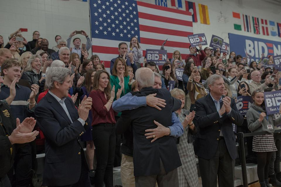Joe Biden at a Town Hall in Des Moines, IA on Feb. 2, 2020.