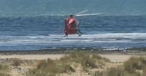 A Coastguard search and rescue helicopter dispatched and Stevens was airlifted to hospital but died in Ysbyty Gwynedd. (Wales News)