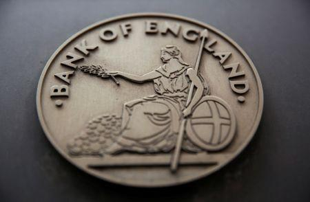 FILE PHOTO:A sign is displayed outside the Bank of England in London