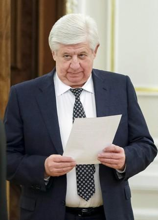 FILE PHOTO: Prosecutor-General of Ukraine Shokin is seen before the meeting of national security and defense council of Ukraine in Kiev
