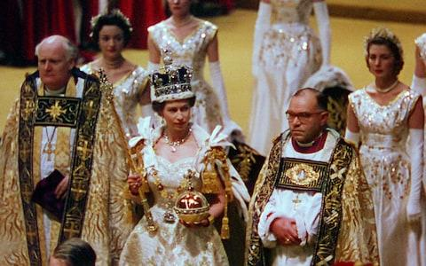 The Queen at her coronation - Credit: ITV Archive