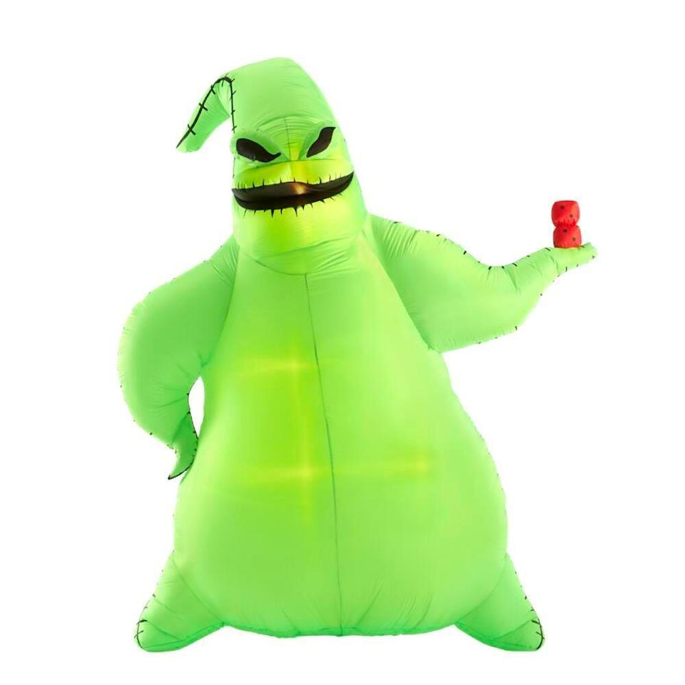 <p>Everyone's favorite villain from <strong>The Nightmare Before Christmas</strong> will steal the spotlight thanks to this ginormous <span>Disney Oogie Boogie Halloween Inflatable</span> ($149).</p>