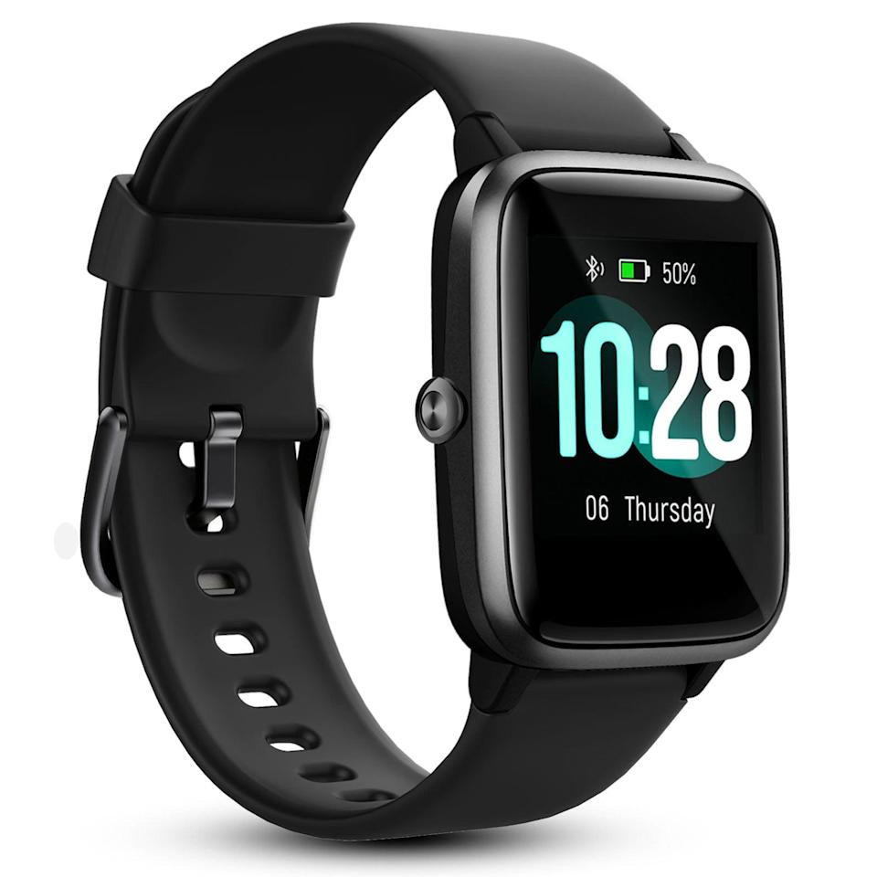 <p>The <span>EEEkit Smart Watch Health and Fitness Tracker</span> ($33) is not only waterproof but can monitor your heart rate, blood pressure, and blood oxygen very conveniently. It can even monitor and analyze your sleep patterns like providing you with data on your deep sleep, light sleep, and wake time.</p>