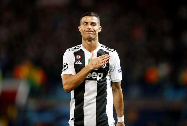 Cristiano Ronaldo's Juventus are currently top of Serie A. (Martin Rickett/PA)