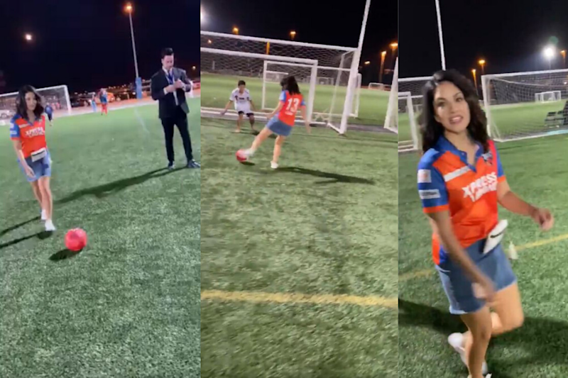Sunny Leone Shows Off Her Football Skills and Internet Can't Keep Calm
