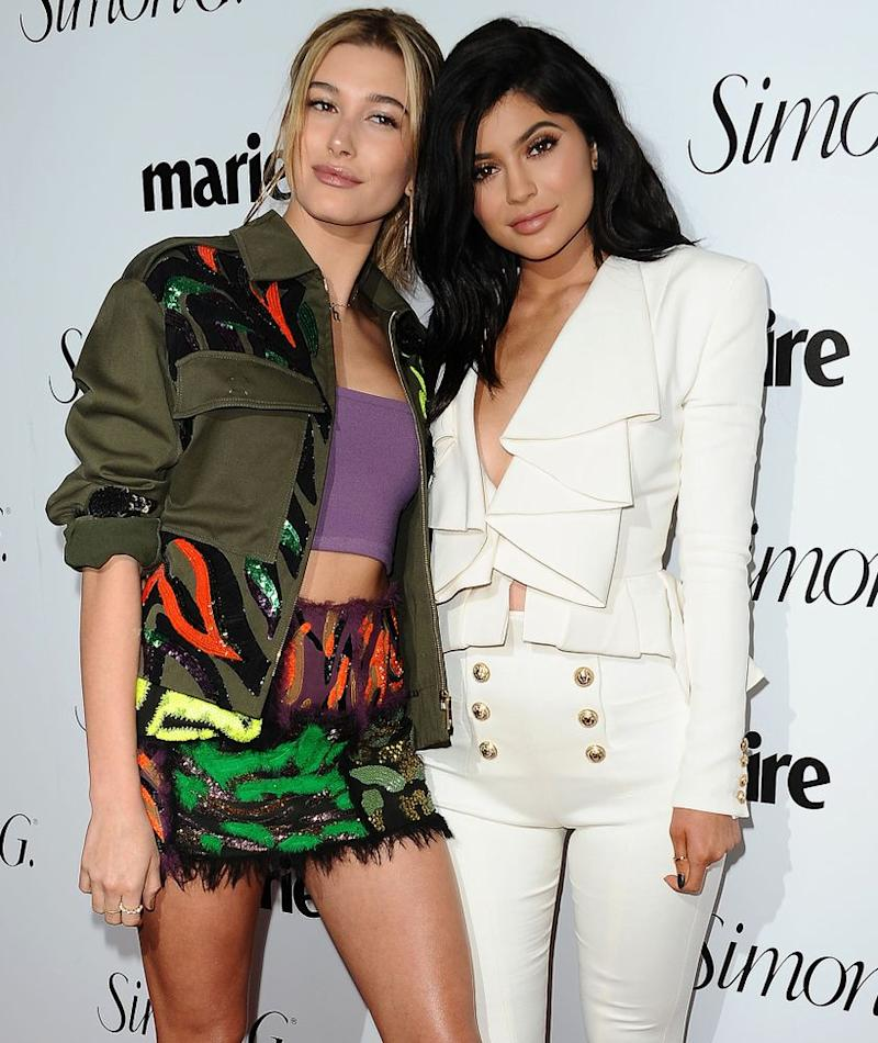 Hailey Baldwin and Kylie Jenner
