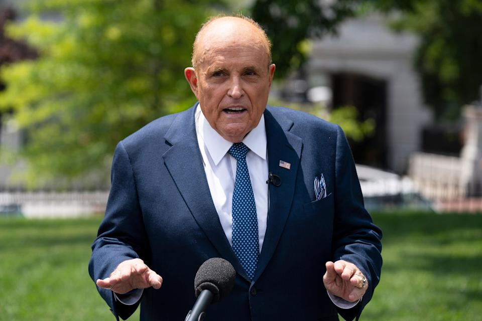 <p>File image: Rudy Giuliani was unsuccessful in the legal challenge mounted by Trump campaign against the results of  November 2020 elections</p> (AP)