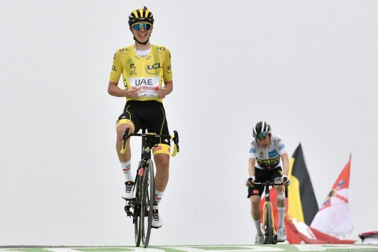 On top at the Tour: defending champion Tadej Pogacar won stage 17 after a stern test on a giant mountain