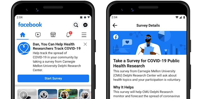 Facebook launches Covid-19 survey