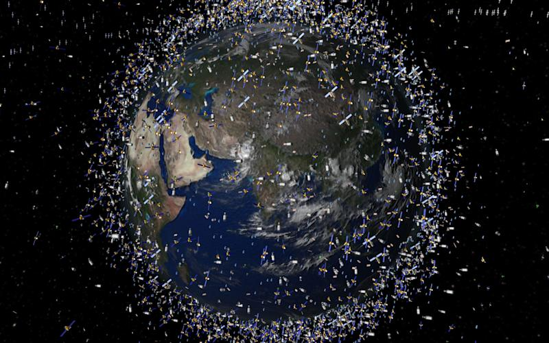 Space scientists are concerned that defunct satellites could hit other satellites or the International Space Station (ISS) setting off a catastrophic chain reaction