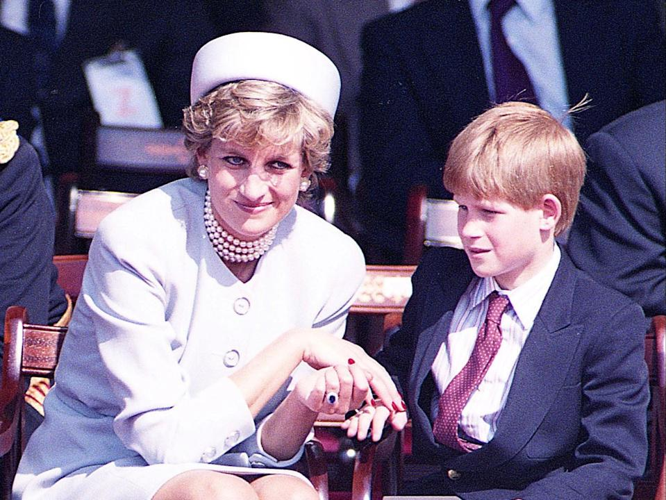 Princess Diana and son Harry in Hyde Park, London, in May 1995 (Reuters)