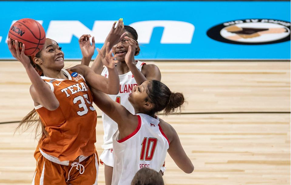 Charli Collier scored a team-high 16 points in Texas' upset of Maryland in the Sweet 16.