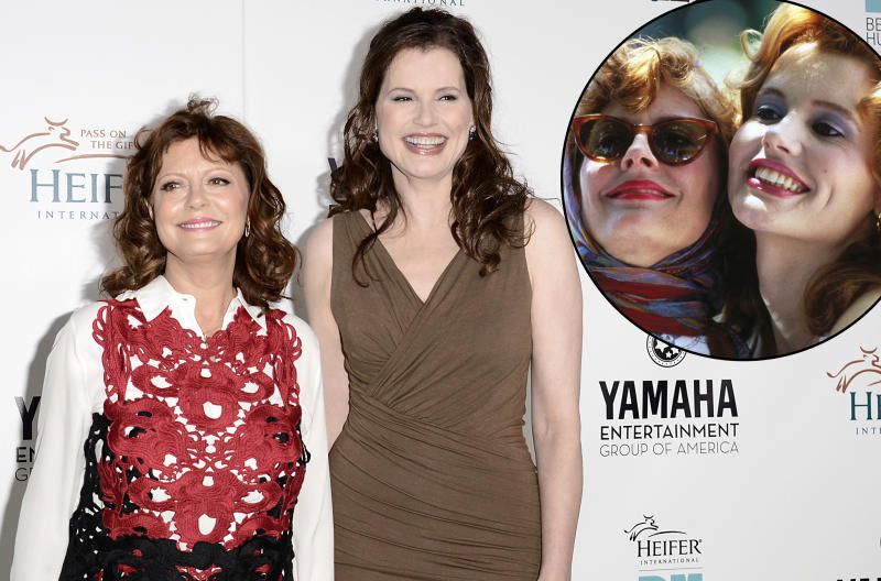 Susan Sarandon and Geena Davis at a charity gala in Beverly Hills on Thursday