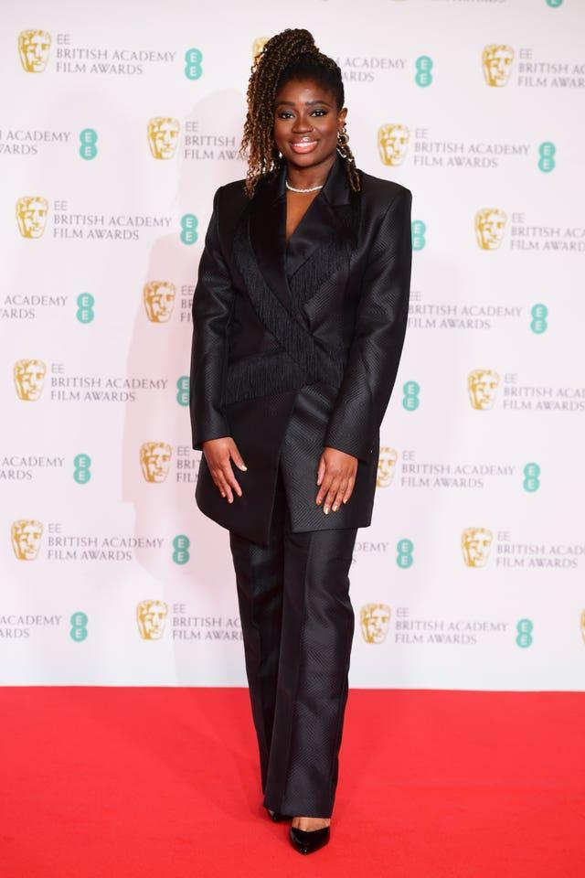 Official EE host Clara Amfo arrives for the EE BAFTA Film Awards