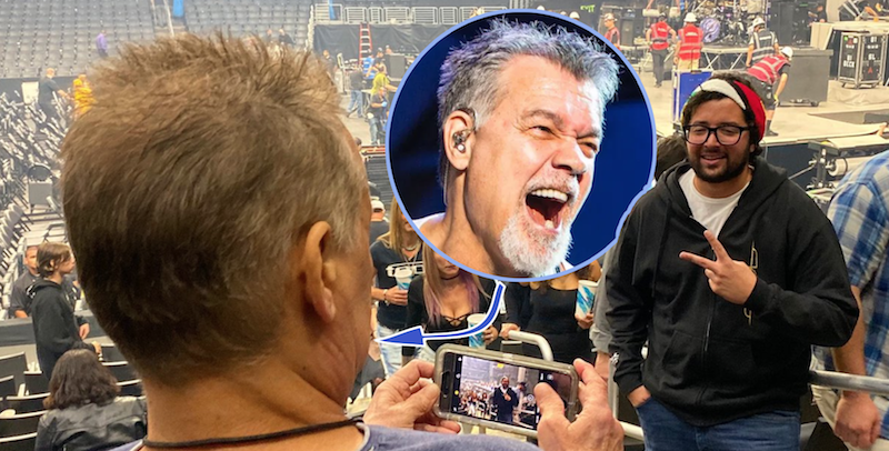 Tool fan didn't realize he asked Eddie Van Halen to take his picture at concert