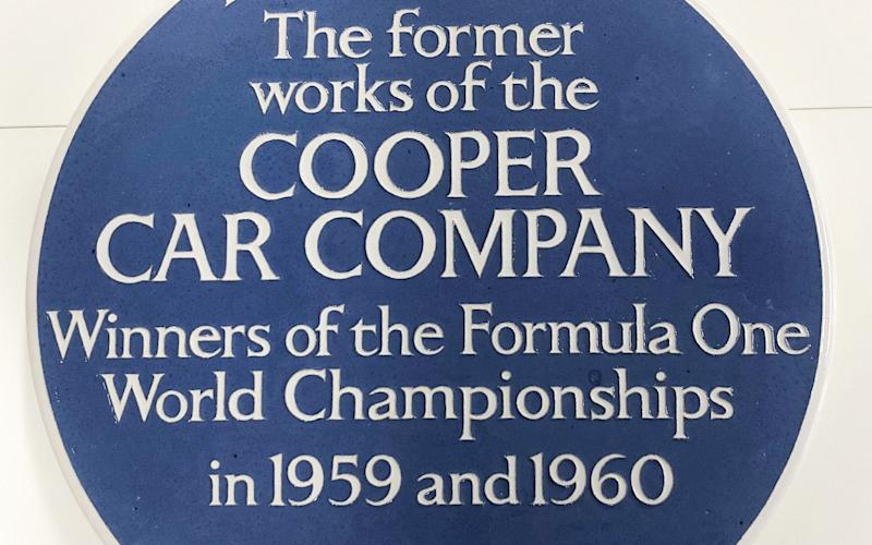A blue plaque has been installed at the former home of the Cooper Car Company