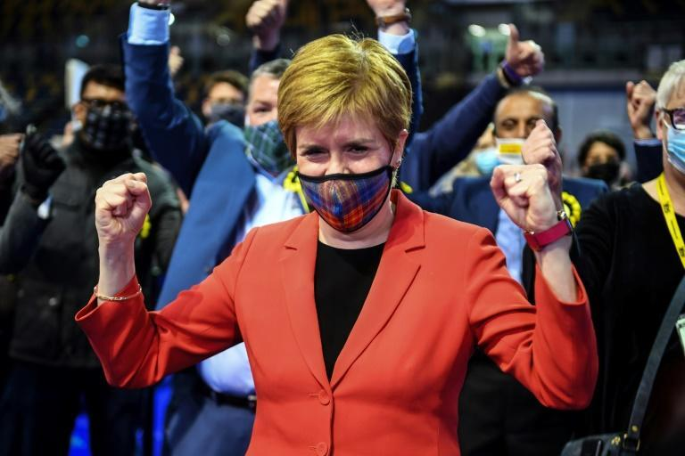 Sturgeon's SNP fell just one seat short of an overall majority