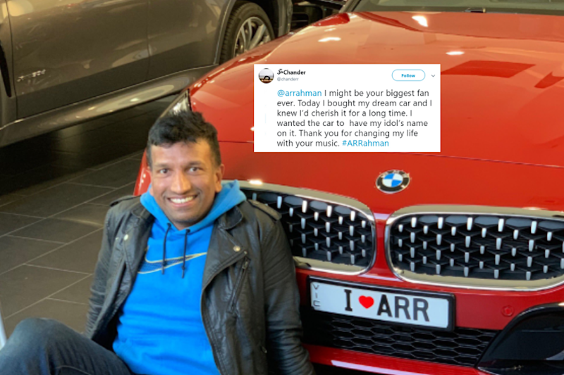 AR Rahman Responds to Fan Who Paid Tribute to the Maestro With Special Number Plate