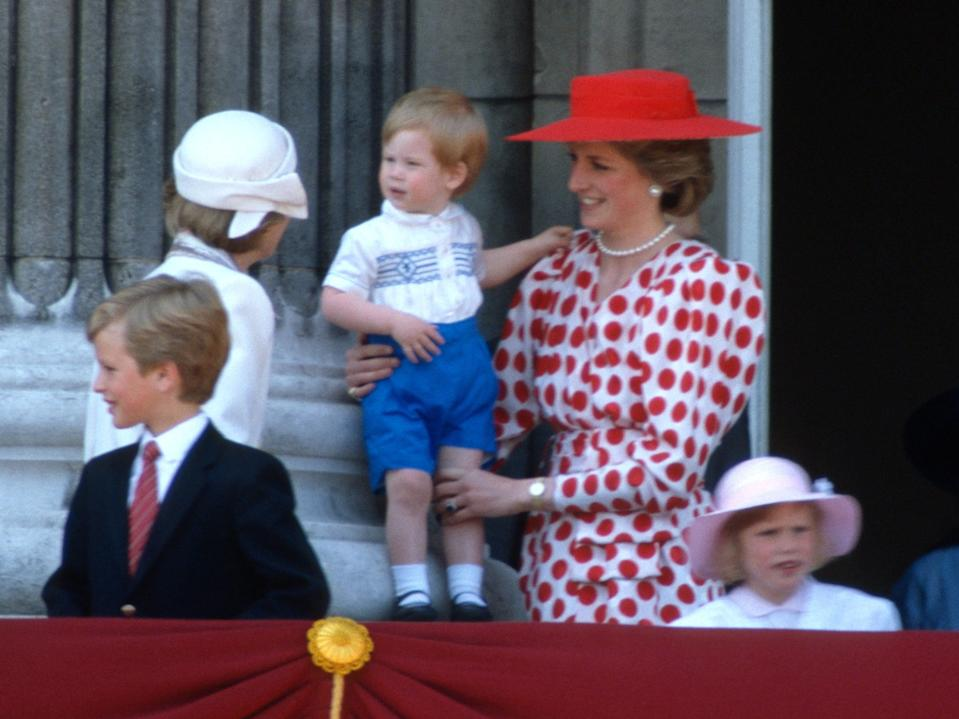 prince harry trooping the color