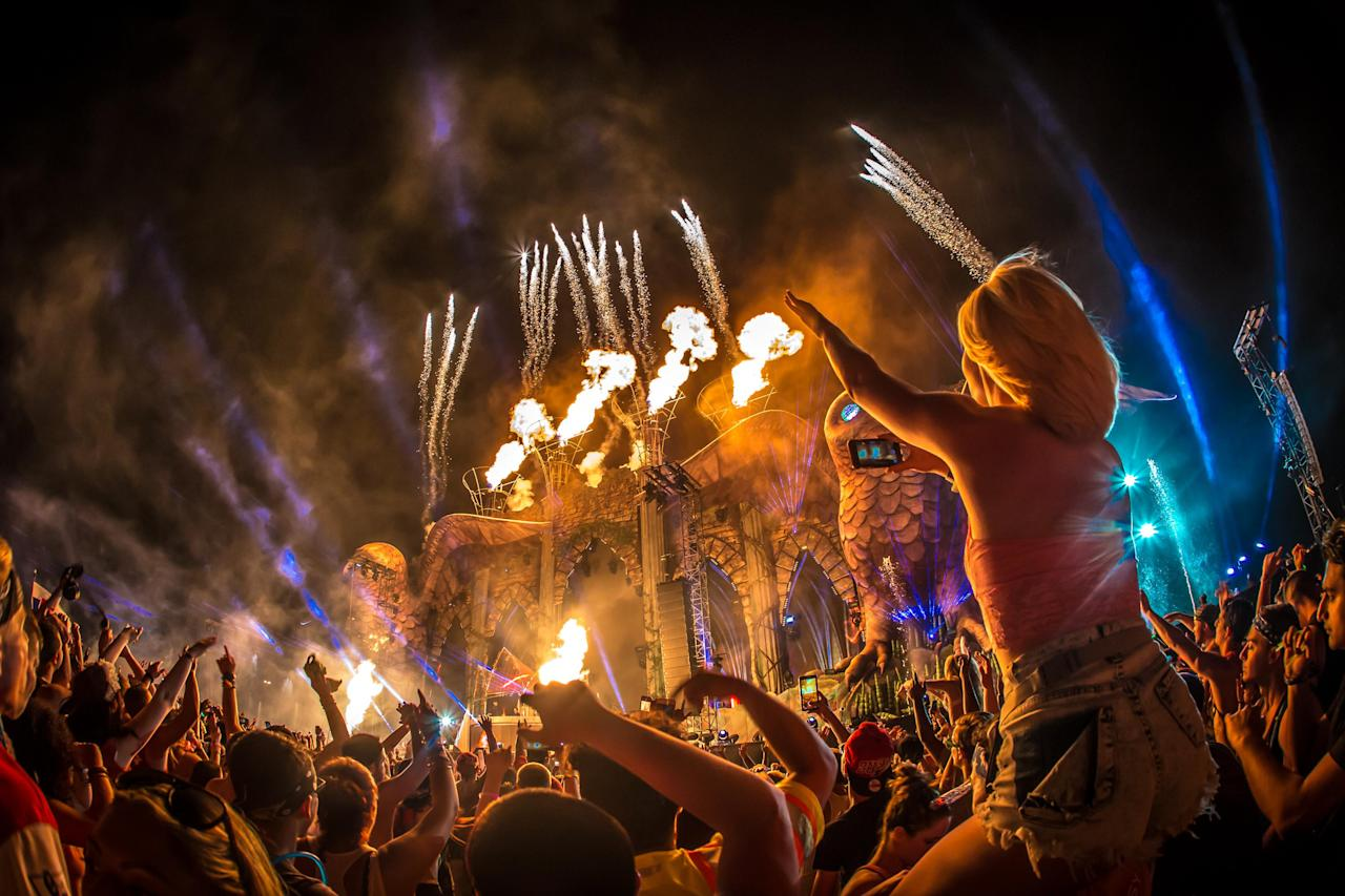 In this handout photo provided by Insomniac, the 4th Annual Electric Daisy Carnival (EDC), New York returns to MetLife Stadium Memorial Day weekend, May 23, 2015.
