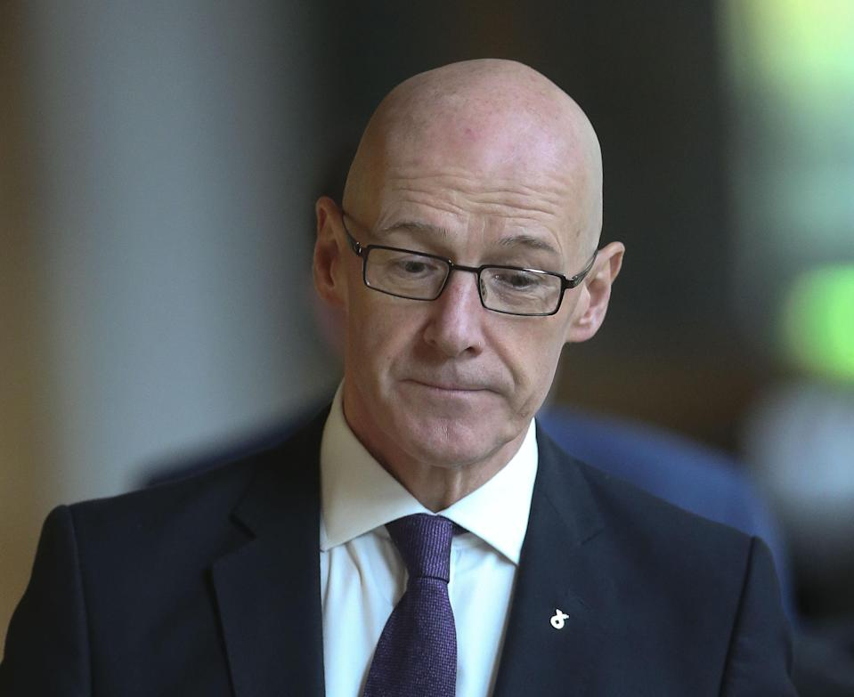 Deputy First Minister John Swinney wrote to the committee as more legal documents were published (Fraser Bremner/Scottish Daily Mail/PA)