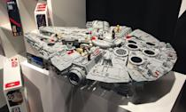 <p>LEGO's huge new Millennium Falcon, its biggest ever set. (Yahoo Movies UK/Disney) </p>