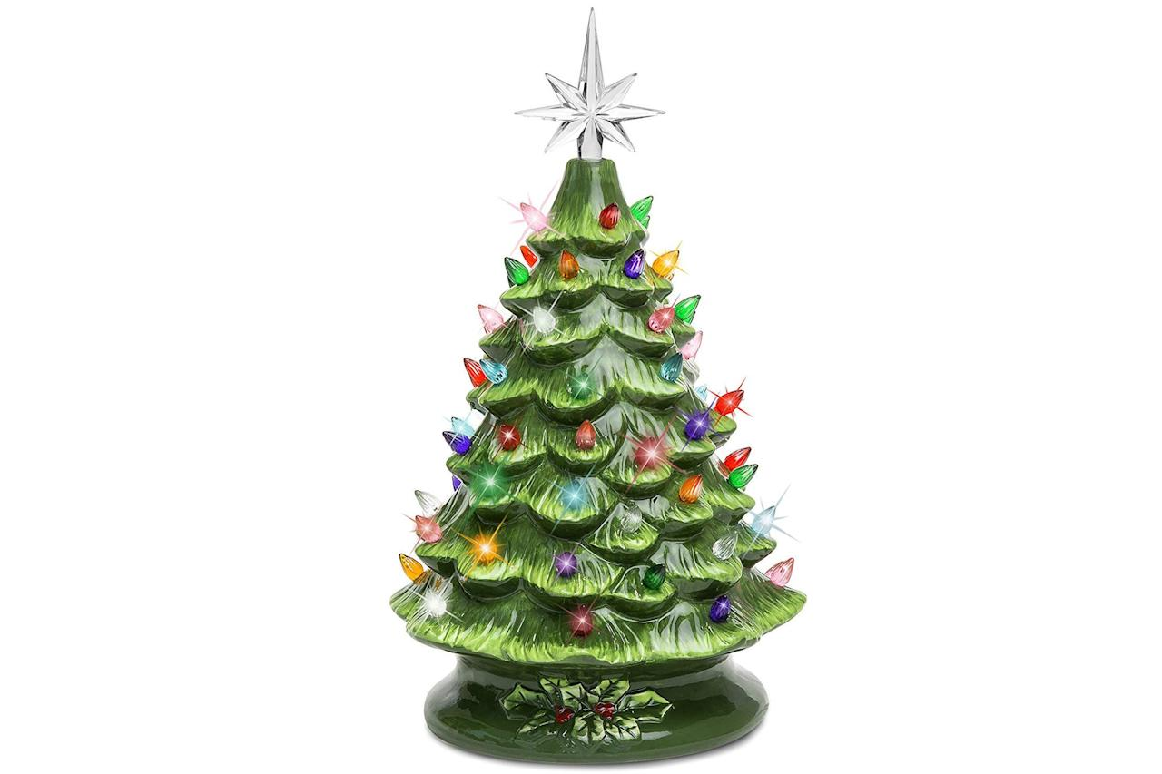 """<p>Lucky for us, this trend from the 1970s has regained popularity, meaning this family heirloom deserves a spot front and center. </p> <p> Ceramic Pre-Lit Hand-Painted Tabletop Christmas Tree: $37.99; <em><a href=""""https://www.amazon.com/Best-Choice-Products-Hand-Painted-Multicolored/dp/B01N0I95PO?ie=UTF8&camp=1789&creative=9325&linkCode=as2&creativeASIN=B01N0I95PO&tag=southlivin04-20&ascsubtag=d41d8cd98f00b204e9800998ecf8427e"""" target=""""_blank"""">amazon.com</a></em></p>"""