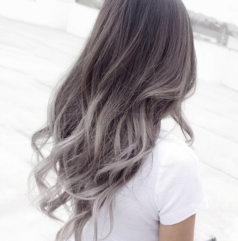This Ombr Gray Hair Trend Will Make You Want To Color Your Hair