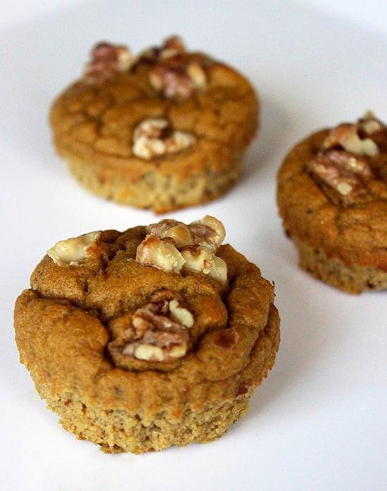 """<p>These paleo pumpkin pie muffins are not only gluten- and dairy-free, but they're also light, fluffy, and delicious.</p> <p><b>Get the recipe</b>: <a href=""""https://www.popsugar.com/fitness/Paleo-Pumpkin-Muffins-32325451"""" class=""""link rapid-noclick-resp"""" rel=""""nofollow noopener"""" target=""""_blank"""" data-ylk=""""slk:paleo pumpkin pie muffins"""">paleo pumpkin pie muffins</a></p>"""