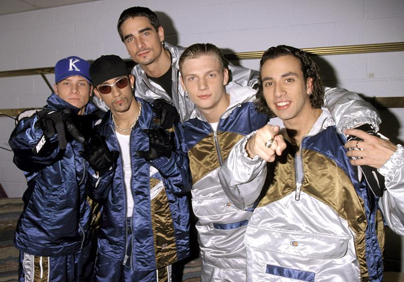 The Backstreet Boys, pictured in 1997, were a twinning combination from the start. (Photo: Kevin Mazur/WireImage)