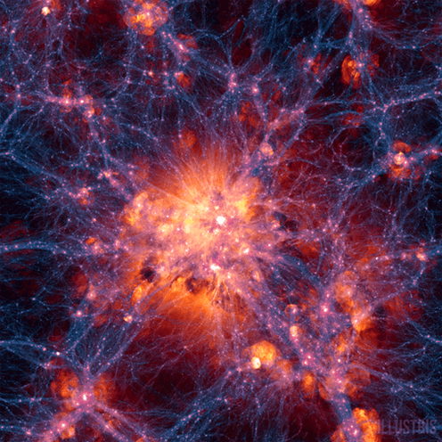 """<span class=""""caption"""">Dark matter and gas in the universe. There may be more dark matter than we think.</span> <span class=""""attribution""""><span class=""""source"""">Illustris</span>, <a class=""""link rapid-noclick-resp"""" href=""""http://creativecommons.org/licenses/by-sa/4.0/"""" rel=""""nofollow noopener"""" target=""""_blank"""" data-ylk=""""slk:CC BY-SA"""">CC BY-SA</a></span>"""