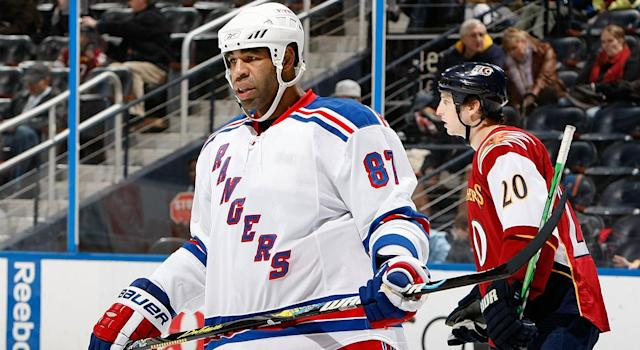 Ex-NHL enforcer Brashear has a history with the law. (Getty)