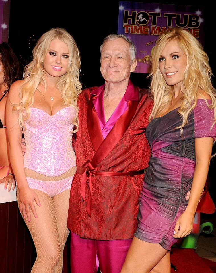 "April 9: Hugh Hefner turns 85 Jeffrey Mayer/<a href=""http://www.wireimage.com"" target=""new"">WireImage.com</a> - June 26, 2010"