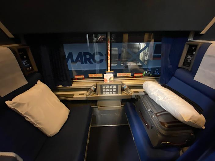 The service for roomette passengers is like a first-class flight cabinRichard Hall/The Independent