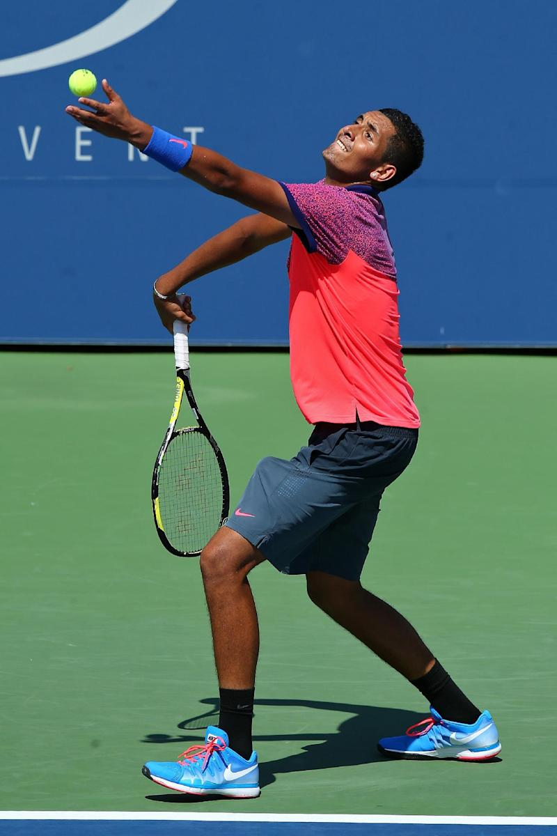 Tennis - Wild thing Kyrgios escapes US Open banishment