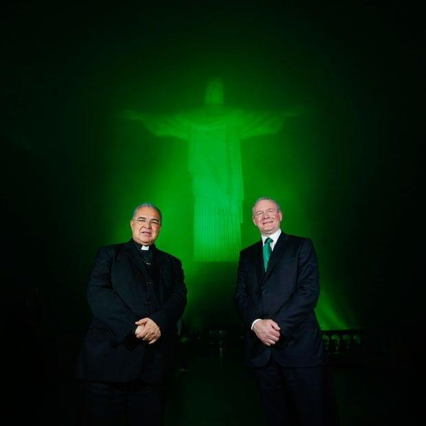 The Christ the Redeemer statue in Rio de Janiero (seen here with the Archbishop of Rio de Janiero Dom Orani Joao Tempesta and Northern Ireland's deputy First Minister Martin McGuinness) - Credit: Kelvin Boyes/Press Eye/PA