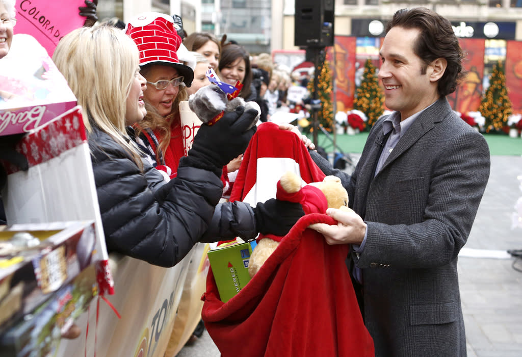 "TODAY -- Pictured: Paul Rudd appears on NBC News' ""Today"" show -- (Photo by: Peter Kramer/NBC/NBC NewsWire)"