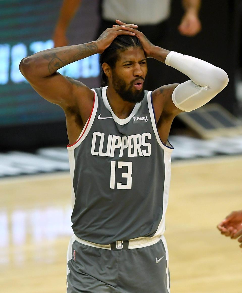 Paul George and the Clippers are facing elimination.