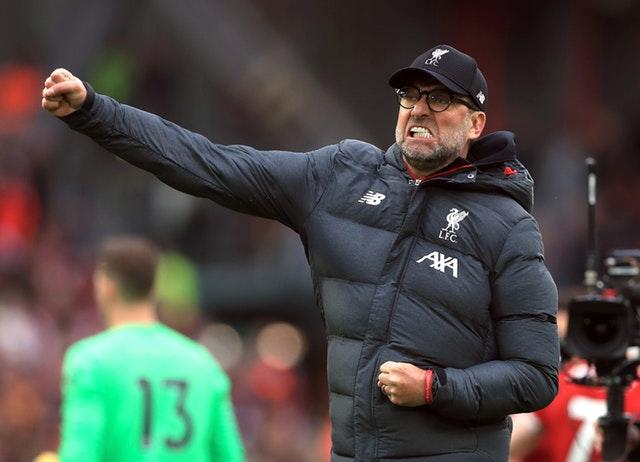 Jurgen Klopp's Liverpool were closing in on their first title in 30 years when the Premier League was postponed.
